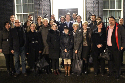 A trip to No.10 Downing St with the British Ambassador to Bosnia and Herzegovina, Nigel Casey.
