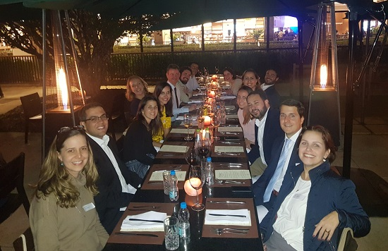 CCLS alumni at a dinner in Sao Paolo hosted by Prof Duncan Matthews