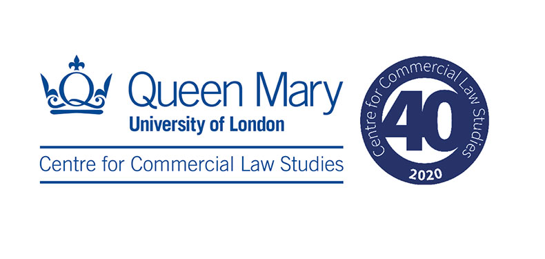 Centre for Commercial Law Studies logo and CCLS 40th mark