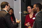 Mentors and mentees mingling at the 2020 mentoring launch event