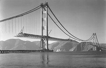 Golden Gate Bridge under construction