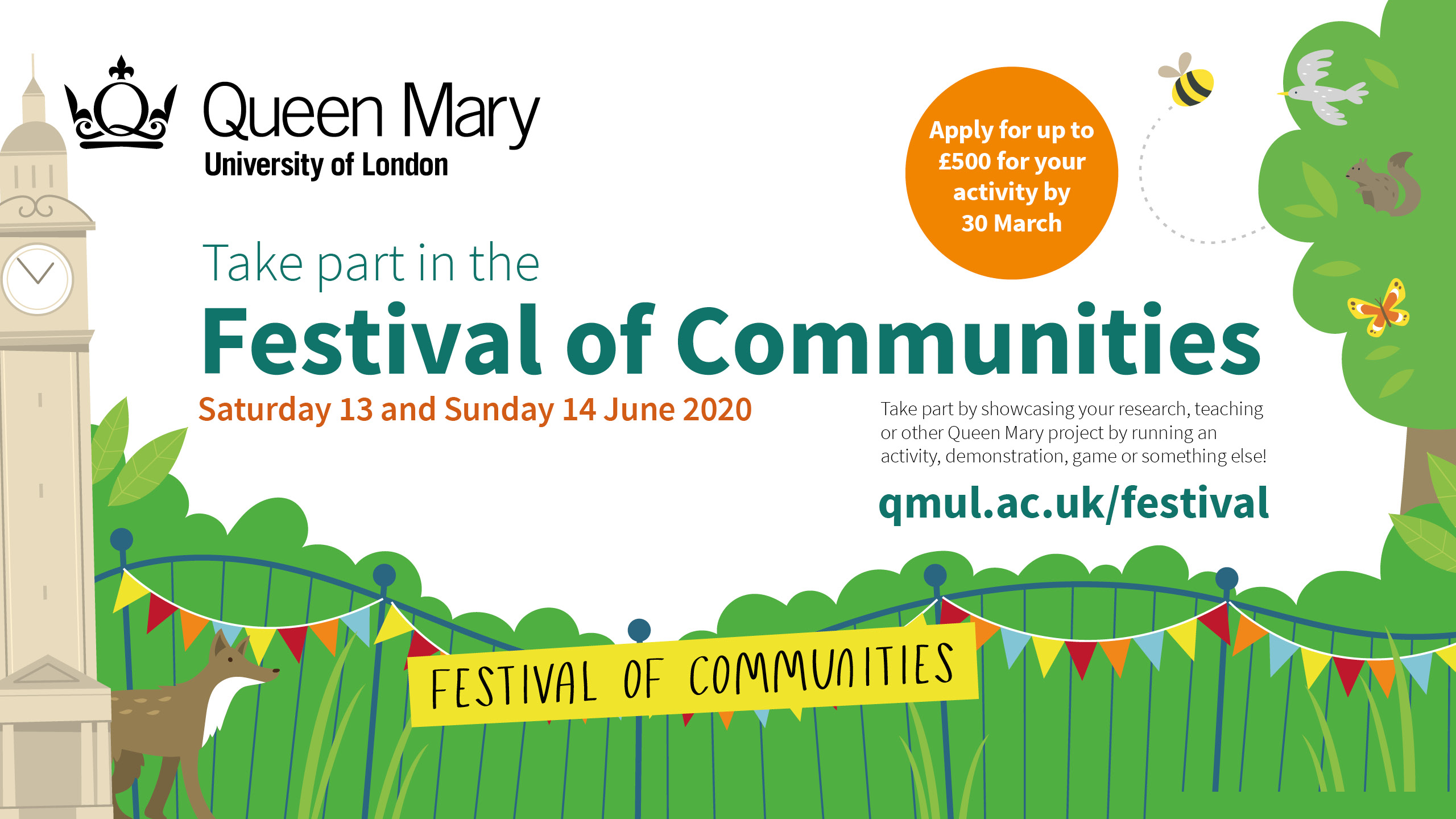 Details for 2020 Festival of Communities event at Queen Mary