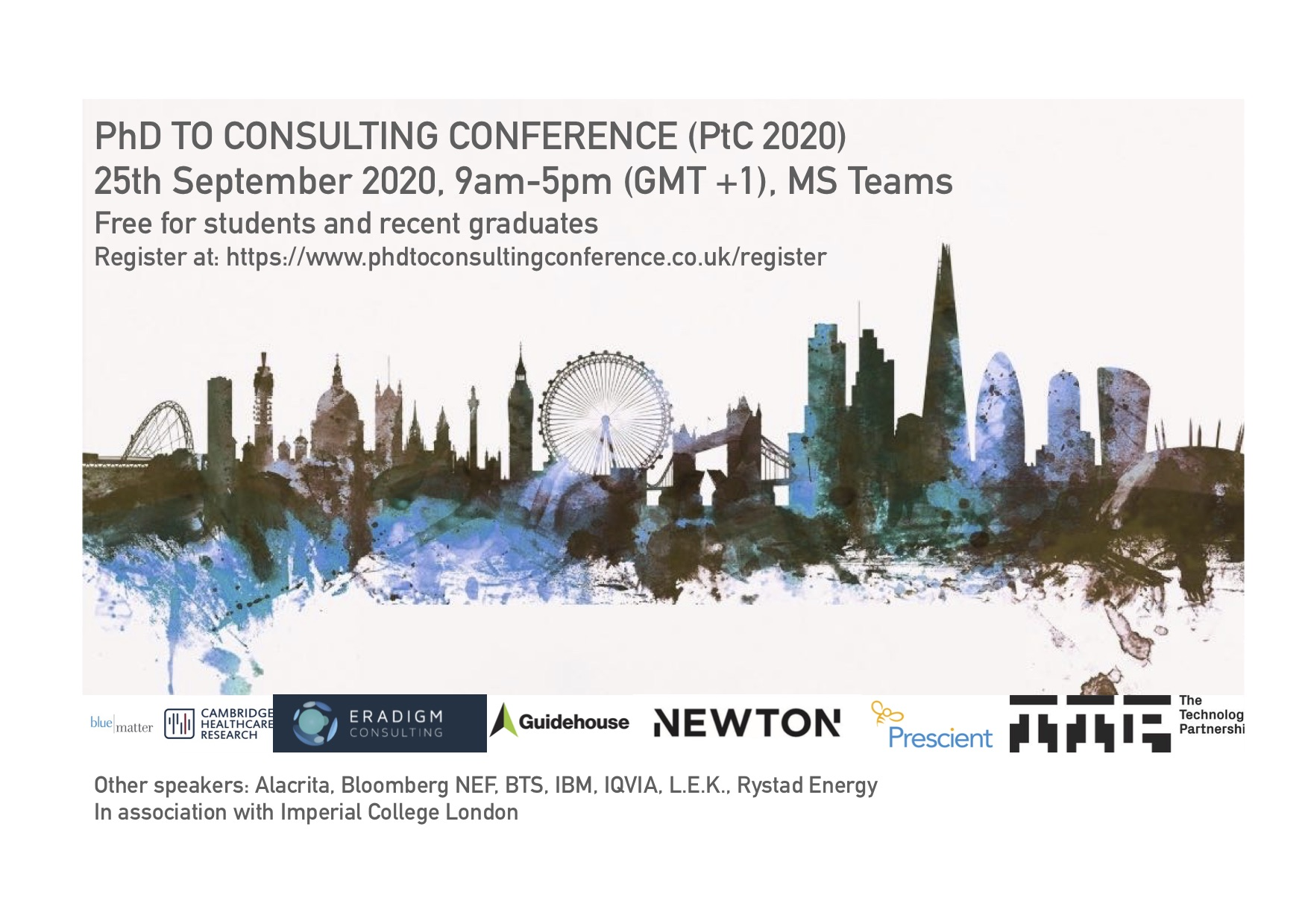 PhD to Consulting Conference 2020 infographic