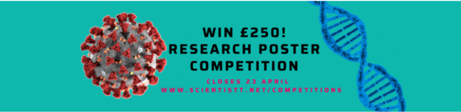 advert for online poster competition by Scientistt in March 2020