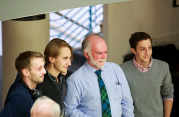Professor Horne with some of his third-year students at his inaugural lecture