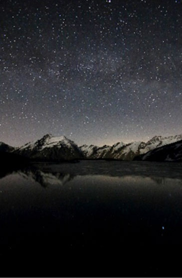 My Place in the World – Starlight at Lake Djouan, Italy. © Stefano Brighenti