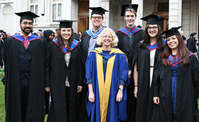 Some of the Community Organising graduates with academic lead Professor Jane Wills (centre)