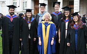 Some of the Community Organising graduates with academic lead Professor Jane Wills (centre)