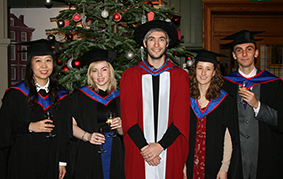 Some of the Environmental Science students with Dr Alex Henshaw (centre)