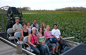 Students visit the Florida Everglades to explore the physical, environmental, political and economic issues surrounding a range of restoration and management schemes in South Florida.