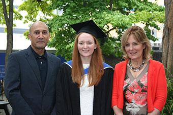 QMUL Geographer Georgie Baker with the Tavana family