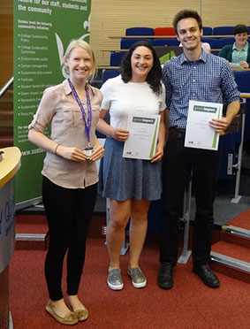 Geography student Rosemary Cargill at the Green Impact awards