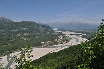 Tagliamento River north east Italy.