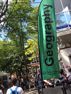The sun was shining on Geography Square for the open day as the College welcomed thousands of visitors from across the UK and beyond to its Mile End Campus.