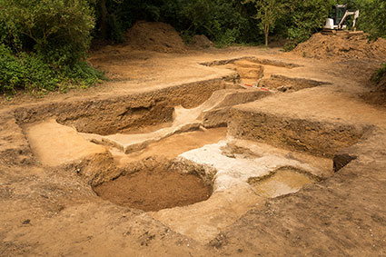 Ongoing excavations at East Farm, Barnham