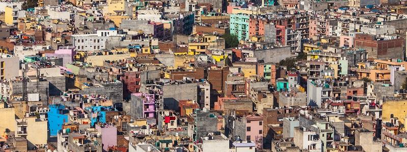 View of a Mumbai slum.