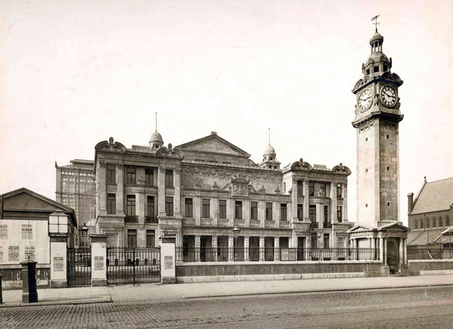 A view of the original People's Palace in 1892.