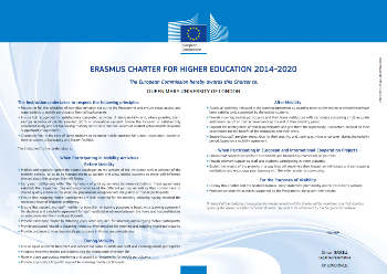 Picture of the Erasmus Charter for Higher Education 2014-2020