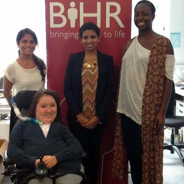 QMUL student interns at BIHR 2014