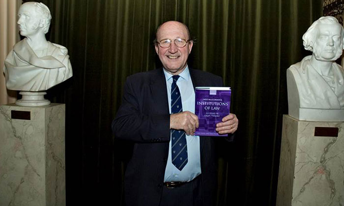 Neil MacCormick with Institutions of Law, 2007