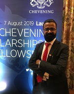 Krishan at Chevening ceremony