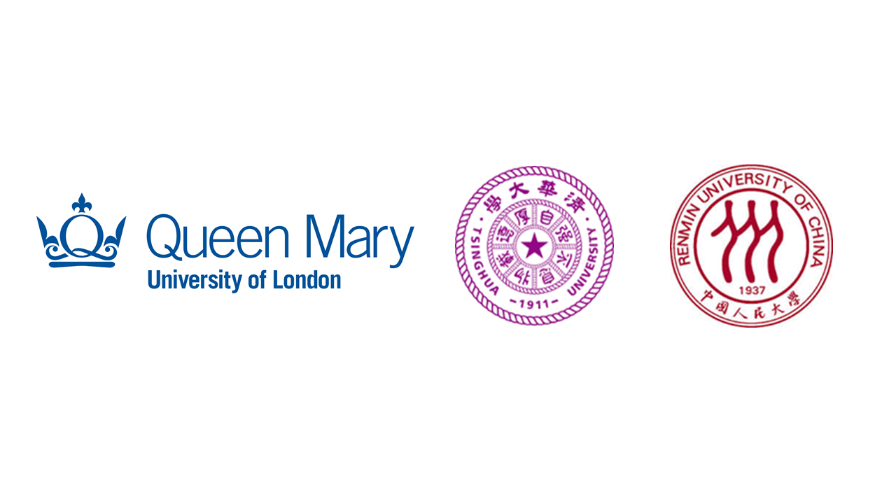 Logo collage with Queen Mary, Tsinghua University and Renmin University of China