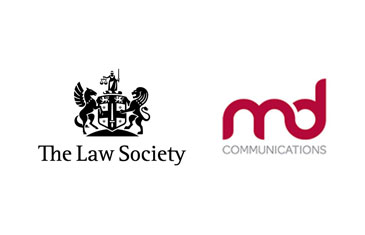 Law Society and MD Communications logos