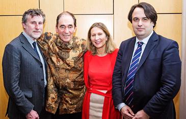 Stephen Bowen, Justice Albie Sachs, Geraldine Van Beuren and Valsamis Mitsilegas