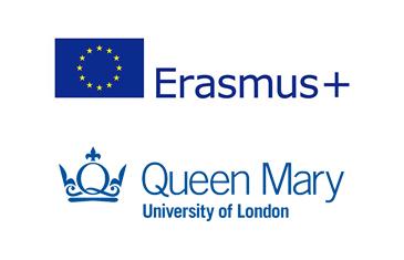 Erasmus+ and QMUL logos