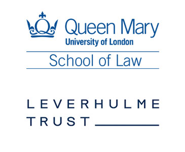 QMUL School of Law and Leverhulme Trust logos