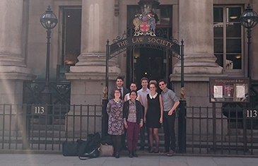 After the completion of their application the students visited the historical Law Society of England and Wales, which was founded in 1825