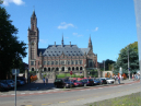 International Criminal Court in the Hague against a blue sky