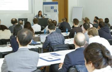 Professor Rosa Lastra speaking at Goethe University Frankfurt