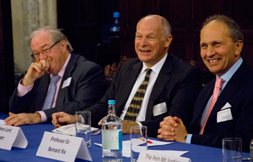 Prof Julian Lew, Lord Neuberger and Sir Bernard Rix