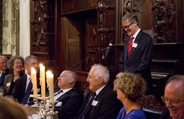 Prof Philip Rawlings delivers after dinner speech