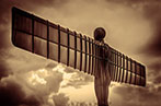 Angel of the north in sepia filter