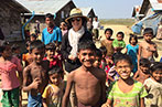 Penny Green with members of the Rohingya in Myanmar