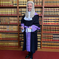 Sarah Cove in her barristers' uniform