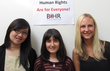 L-R -Nathalia Hadiprodjo (Indonesia) LLM in Public International Law, Sadaf Etemadi (UK), LLM in Human Rights Law and Helene Qvist Petersen (Denmark), LLM in Human Rights Law