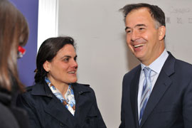 Sean Hagan with Professor Rosa Lastra