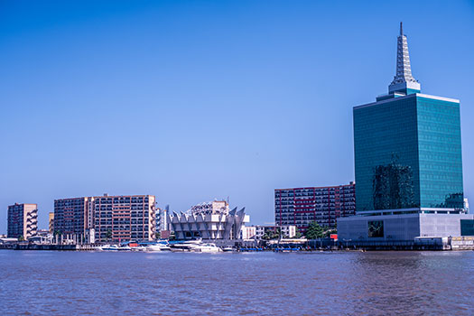 A view of the Lagos Lagoon, Victoria Island