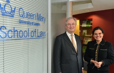 Professor Rosa Lastra with Graham Nicholson, Bank of England