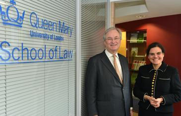 Professor Rosa Lastra with Graham Nicholson, Bank of England