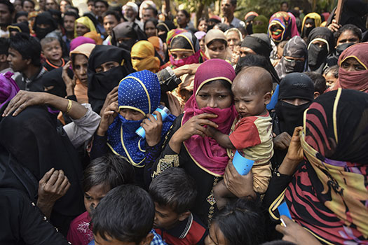 Group of Rohingya refugees