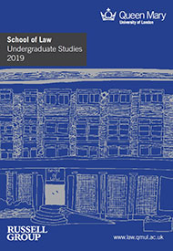 Undergraduate Law Prospectus 2019 cover