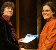 Professor Rosa Lastra receiving her award