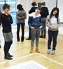 People taking part in the Art and Drama Workshops