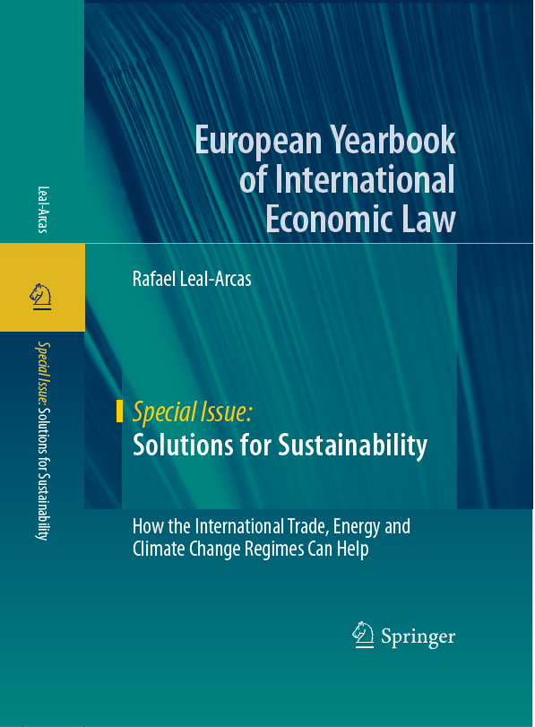 Book cover for Solutions for Sustainability by Rafael Leal-Arcas