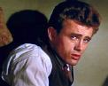 A still of the actor James Dean in the film east of Eden.