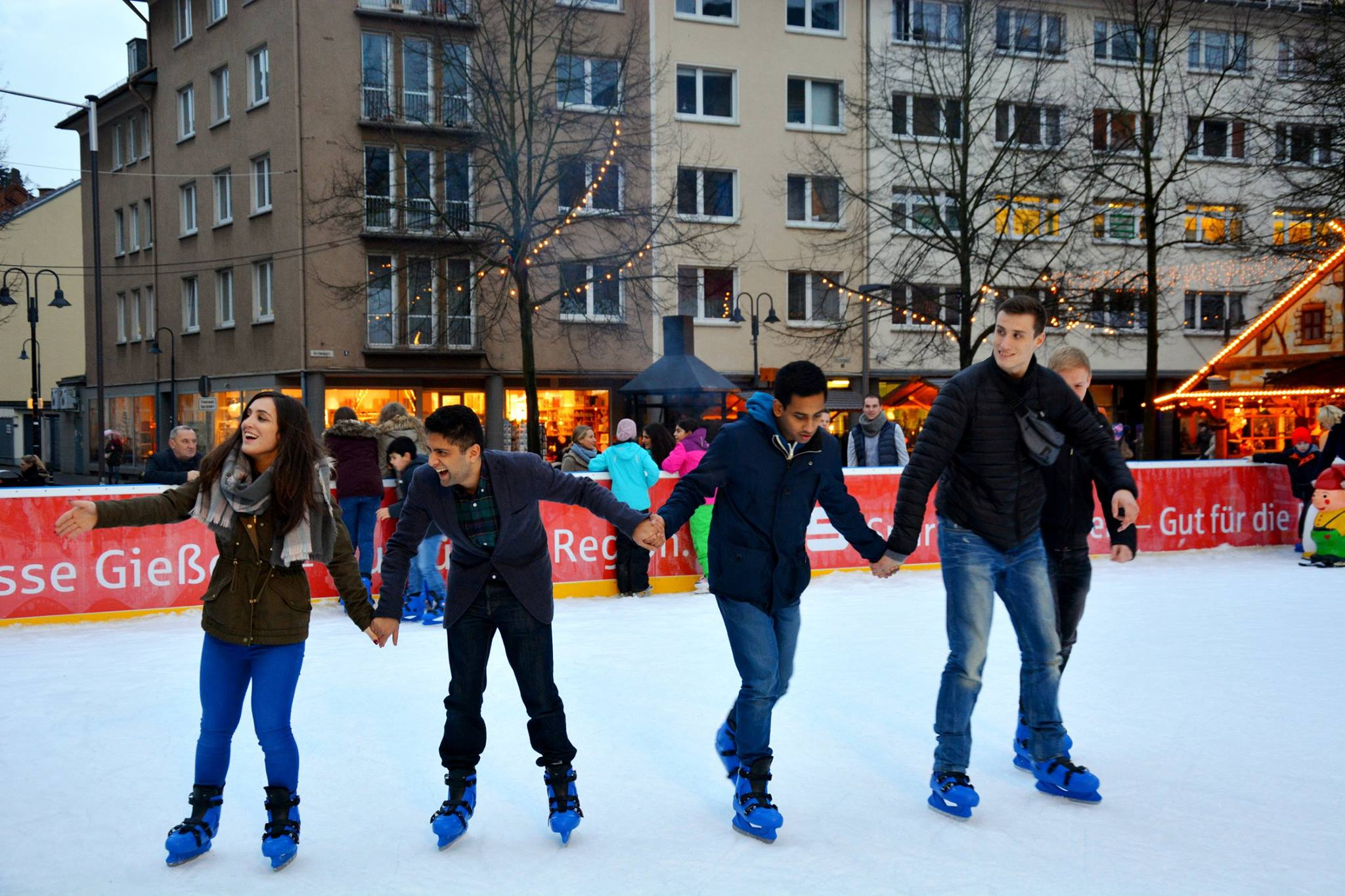 Students iceskating